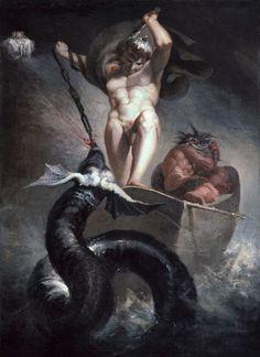 Henry Fuseli - Thor battling the Midgard serpent