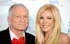 Hugh Hefner and latest Playboy blonde Crystal Harris. Hugh, do you have one more bunny in you at 84?  Another celebrity couple breakup... Dumped.