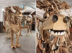 Scrap Wood Art | ND!V!DUALS' Playful And Larger Than Life Scrap Wood Sculptures
