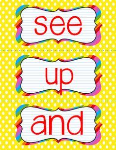 TheHappyTeacher: Heads Up, Seven Up Sight Words!