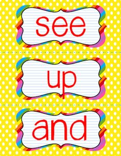 TheHappyTeacher: Heads Up, Seven Up Sight Words!