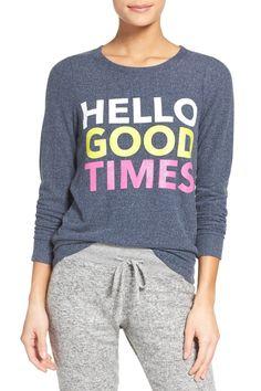 Size S Chaser | Hello Good Times Sweatshirt | Nordstrom Rack