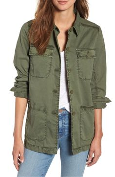 8ff7a06059259 Free shipping and returns on Caslon® Utility Jacket (Regular  amp  Petite)  at