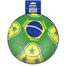 Brazil Football Cutout