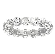 Prong-Set Diamond Eternity Band - 4mm (I, I1) size 5.5