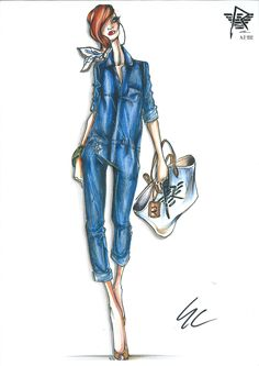 sketch Rihanna & Armani Jeans capsule collection 2012