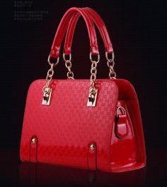 stacy bag hot sale women fashion chains handbag female bright color leather totes ladies briefcase business bag handles $11.90