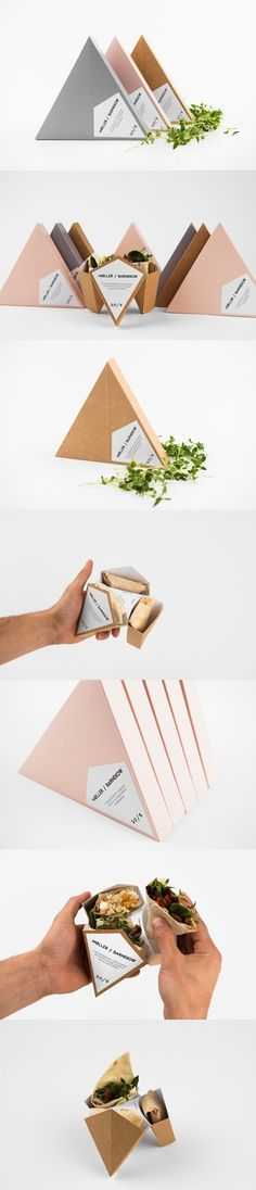 The most elegant sandwich wrap. (More design inspiration at www. The most elegant sandwich wrap. (More design inspiration at www. Innovative Packaging, Food Packaging Design, Paper Packaging, Pretty Packaging, Brand Packaging, Branding Design, Smart Packaging, Product Packaging, Product Branding