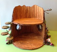 Ready for furniture: Once Upon A Doll Collection : BJD Fairy Tree Dollhouse Craft Project