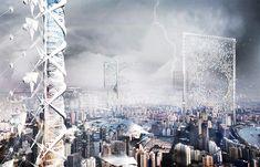 Image 23 of 32 from gallery of eVolo Announces 2017 Skyscraper Competition Winners. Wind Skyscraper / Shenghui Yang, Xu Pan, Yue Song, Yingxin Cheng, Binci Wang, Yuerong Zhou, Yaying Zheng, Shiman Wang. Image Courtesy of eVolo