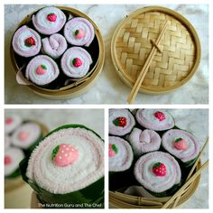 Handmade Sushi Baby Shower Gift. Check it out on the blog!