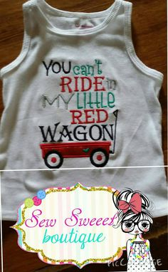 You can't ride in my little red wagon girls by SewSweeetBoutique