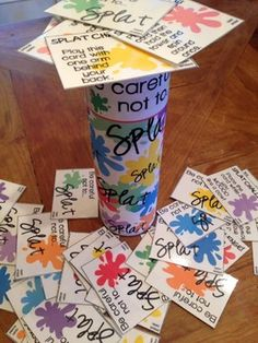 SPLAT!! A fun DIY open ended game PLUS decks for sh, ch, j, /f/ & /v/! Collect every phoneme! Repinned by SOS Inc. Resources pinterest.com/sostherapy/.