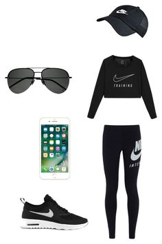 """relaxing"" by nihadniks ❤ liked on Polyvore featuring beauty, NIKE and Yves Saint Laurent"