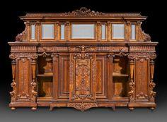 Monumental size and exquisite workmanship distinguish this Herter sideboard Circa 1875-1885 ~ M.S. Rau Antiques