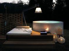 Vasca da bagno centro stanza in metacrilato MINIPOOL   Vasca da bagno - Kos by Zucchetti