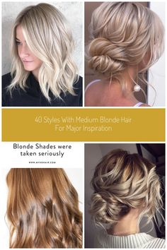 Blonde Wavy Lob With Highlights #medium blonde 40 Styles with Medium Blonde Hair for Major Inspiration