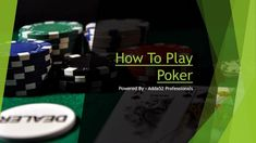 Learn the basics, rules and structure of poker as well as a comprehensive list of poker strategy to improve your game.
