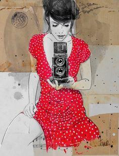 "Loui Jover; Drawing, ""photo"""
