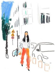 The Models, Editors and Street-Style Stars of Men's Fashion Week in Paris, Illustration by Damien Florébert Cuypers Fashion Week Hommes, Mens Fashion Week, Star Fashion, New Fashion, Trendy Fashion, Paris Fashion, Fashion Model Sketch, Fashion Sketches, Fashion Models