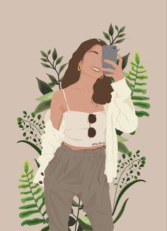 Illustration Art Drawing, Portrait Illustration, Art Drawings Sketches, Friends Illustration, Woman Illustration, Arte Fashion, Abstract Face Art, Digital Art Girl, Cartoon Art Styles