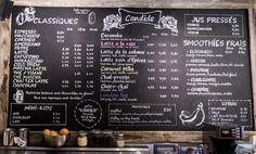 Carte - Menu - Design - Homemade  - Candide café - Montreal