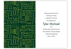 Circuit Board Graduation Invitations by Sussex Printing Corp. #Invitations #Graduation
