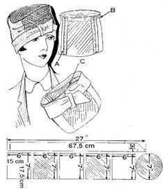 chanel hat 1920's - Google Search                                                                                                                                                                                 Más