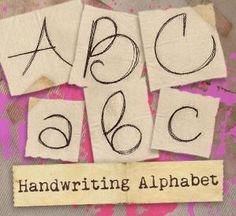 Handwriting Alphabet (Design Pack)_image