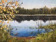 "Timothy Kitz on Instagram: """"Pickerel Lake"" 8X11"" class gouache study #brentwoodartcenter #gouachepainting #gouache #landscapepaintings #michigan #michiganlandscape"" Gouache Painting, Landscape Paintings, Michigan, Study, Travel, Instagram, Art, Art Background, Studio"