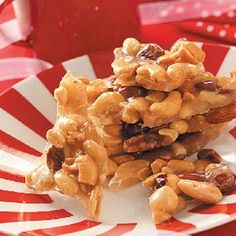 Mixed Nut Brittle Recipe -Peanut brittle is done one better when prepared with mixed nuts instead. This impressive candy is simply delicious. I like to pack some in pretty plastic bags to give as gifts.