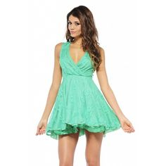I found 'AX Paris Wrap V Front Lace Kickout Green Dress' on Wish, check it out! Green Lace, Green Dress, Green Wrap, Cheap Dresses, Formal Dresses, Lace Dresses, Evening Dresses, Summer Dresses, Paris Dresses