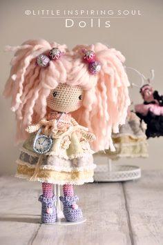 Little Inspiring Soul Crochet Diy, Crochet Amigurumi, Crochet Doll Pattern, Crochet Bunny, Crochet Gifts, Amigurumi Doll, Hand Crochet, Crochet Patterns, Knitted Dolls