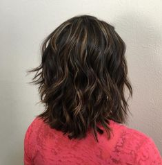 Wavy Layered Cut for Thick Hair