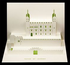 Tower of London Pop-Up Card by Judy Robinson