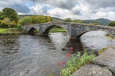 https://flic.kr/p/ZanFnM | Llanwrst Bridge | All the red Virginia Creeper on the cafe blown off in the storms so had to change direction of shot.