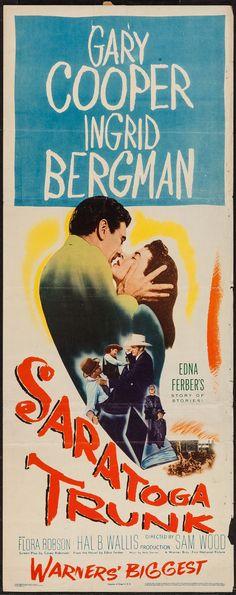 "Movie Posters:Drama, Saratoga Trunk (Warner Brothers, 1945). Insert (14"" X 36""). Drama..... Image #1"