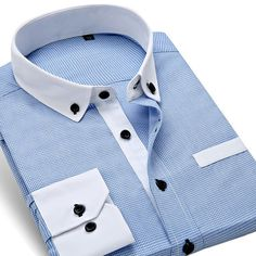 """Men's """"Appropriate Attire"""" Spring/Summer England Style Slim Fit Plaid Dress/Business/Casual Shirt (S-4XL) - 4 Colors"""