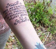 Tattoo Ideas: Lyrics about Love