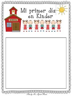 B is for Bilingual: primer dia de clases Kindergarten First Week, Bilingual Kindergarten, Bilingual Classroom, First Day Of School Activities, Bilingual Education, 1st Day Of School, Beginning Of School, Kindergarten Classroom, Kindergarten Activities