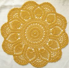 Crochet doily pattern, free from Ravelry - more rug ideas -- would this be too girly for rug in a baby boys room?