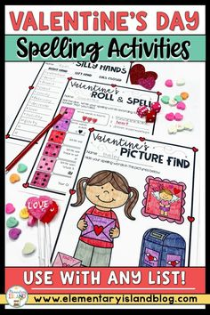 This Valentine's Day Spelling Activities download is perfect for first, second, & third grade classrooms. Included are 12 Valentine spelling practice activities to incorporate the holiday into your Word Work time. Included in this Valentine's Day Spelling pack are activities to pair with your spelling list including code words, arrows, shape words, sentence writing, & syllable sort. These activities are perfect for 1st grade centers, 2nd grade partner work, or 3rd grade homework. #ValentinesDay Spelling Word Practice, Teaching Sight Words, Valentines Day Words, Valentines Day Activities, Holiday Activities, Spelling Activities, Hands On Activities, 3rd Grade Homework, 1st Grade Centers