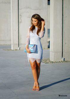 BABY BLUE LACE DRESS
