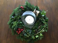 Christmas Wreaths, Candle Holders, Candles, Holiday Decor, Home Decor, Creative, Decoration Home, Room Decor, Porta Velas