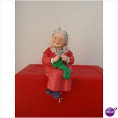 1988 Hallmark Grandma/Mrs. Claus Stocking Holder Christmas Decoration