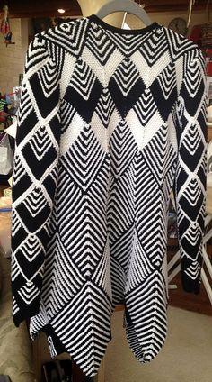 Ravelry: Project Gallery for Harlequin Swing Coat pattern by Jane Slicer-Smith Girl Dress Patterns, Coat Patterns, Blouse Patterns, Doll Clothes Patterns, Clothing Patterns, Skirt Patterns, Moda Crochet, Knit Crochet, Big Knit Blanket
