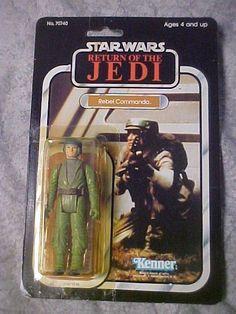 SOLD - Vintage Star Wars REBEL COMMANDO action figure 1983 MOC CARDED ROTJ sealed #Kenner