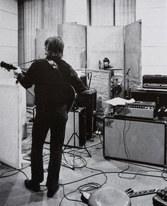 John and Ringo during the Revolver recording sessions, 1966