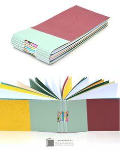 • libretas multicolores reutilizando materia • Libretas de diferentes tamaños – tapas semirigidas con mosaicos en cuero reutilizando recortes de diferente tipo, color y textura – Interi…