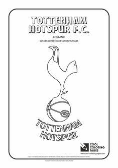 tottenham hotspur fc logo coloring coloring page with tottenham hotspur fc
